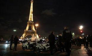 Les forces de police sont particulièrement mobilisées pour la première nuit de l'année.