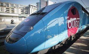 Présentation du nouveau train TGV «OuiGo» low cost de la SNCF, à Paris le 19 février 2013.c