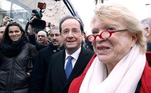François Hollande (PS) et Eva Joly (EELV), le 19 janvier 2012, à Nantes.
