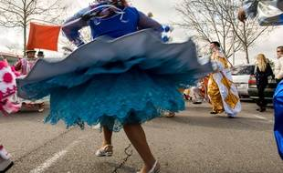 Illustration robe au carnaval. Jesus Vecino/SIPA