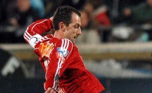 Christophe Le Roux sous le maillot de Vannes, le 27 février 2007.