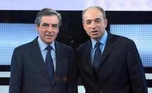 François Fillon et Jean-François Copé sur le plateau de «Des paroles et des actes», le 25 octobre 2012.