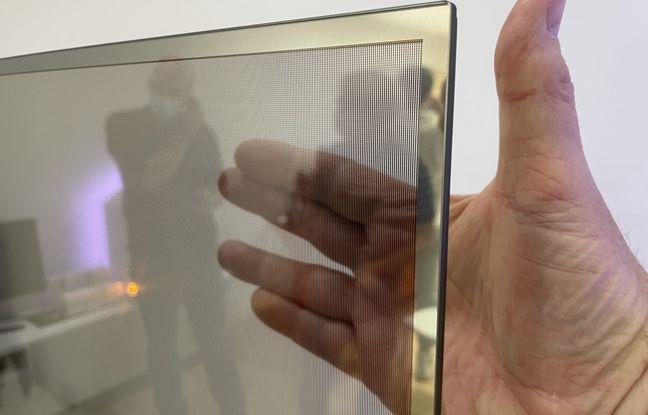 La dalle OLED de la Mi TV LUX Transparent Edition.