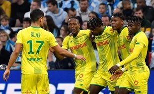 Les Nantais, ici après le but d'Anthony Limbombe, ont montré à Marseille un visage très différent de celui affiché à la Beaujoire face à Metz.