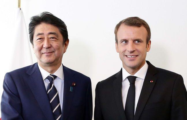 En pleine affaire Ghosn, Emmanuel Macron reçoit Shinzo Abe mardi à l'Elysée