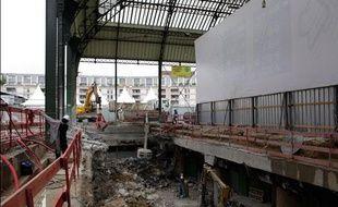 Le chantier de la gare de Lyon le 5 octobre 2010.