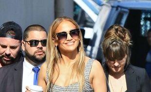 La chanteuse et actrice Jennifer Lopez à Hollywood