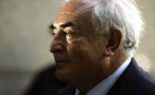 Dominique Strauss-Kahn à sa sortie du tribunal de New York le 23 août 2011