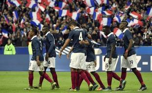 L'équipe de France lors du match contre l'Allemagne, le 13 novembre 2015.