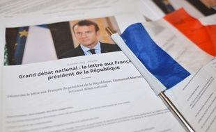 """""""Grand débat national"""", la lettre aux Français du président de la République Emmanuel Macron. Ilustration"""