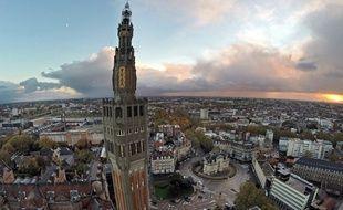 Le beffroi de la mairie de Lille.