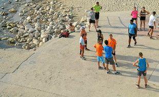 Une séance Run in Marseille au départ de la plage des Prophètes.