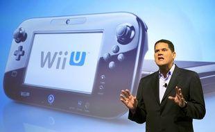 Le président de Nintendo of America Reggie Fils-Aimé parle de la Wii U en 2012.