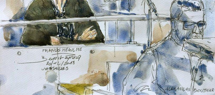 Francis Heaulme le 20 mai 2018 lors de son procès en appel à Versailles pour le double meurtre de Montigny-lès-Metz.