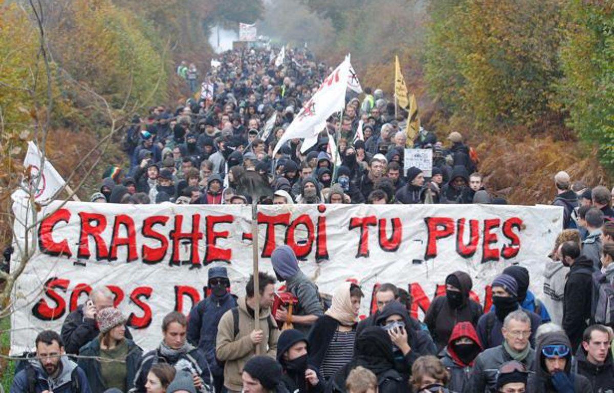 Les opposants au projet d'aéroport de Notre-Dame-des-Landes, le 17 novembre 2012. – FABRICE ELSNER / 20 MINUTES