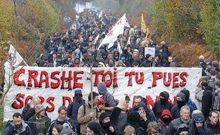 Les opposants au projet d'aéroport de Notre-Dame-des-Landes, le 17 novembre 2012.