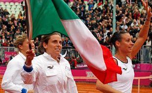 Les joueuses de tennis italiennes, victorieuses de la Fed Cup le 8 novembre 2009 face aux Etats-Unis.