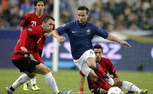 Le milieu de l'équipe de France, Yohan Cabaye, lors d'un match au Stade de France contre l'Albanie, le 7 octobre 2012.