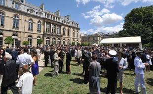 La garden party de l'Elysée du 14 juillet 2009.