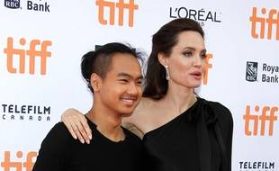 L'actrice Angelina Jolie et son fils Maddox.
