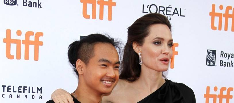 L'actrice Angelina Jolie et son fils Maddox