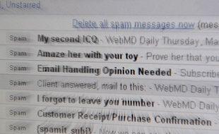 Le dossier à spam d'une messagerie électronique.