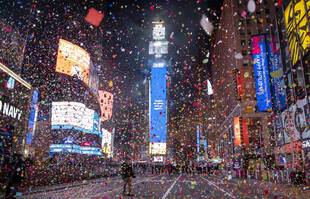 Times Square à New York, le 1er janvier 2021.