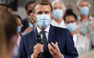 Emmanuel Macron en Polynésie française.