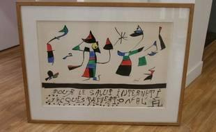 Une oeuvre de Miro vendue aux enchères à Paris en2010.