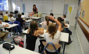 Des élèves d'une classe de 6è de Aytré, en Charente-Maritime, le 1er septembre 2015