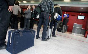 Zone d'embarquement de l'aéroport de Toulouse-Blagnac. 26/012012 Toulouse