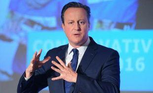 David Cameron devant les délégués du parti conservateur le 9 avril 2016 à Londres