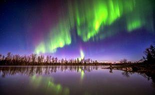 Une aurore boréale observée en Alaska (Etats-Unis) en 2012.