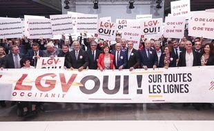 Le 4 octobre, mobilisation des acteurs de la région Occitanie pour obtenir la réalisation des LGV Bordeaux-Toulouse et Montpellier-Perpignan.