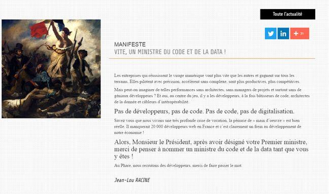 Le manifeste de Jean-Lou Racine.