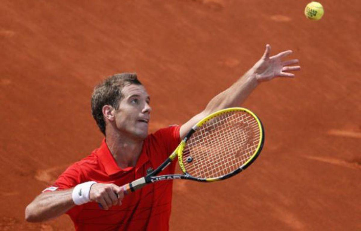 Richard Gasquet pendant son match gagné contre Tommy Haas à Roland Garros, le 2 juin 2012. – KENZO TRIBOUILLARD / AFP