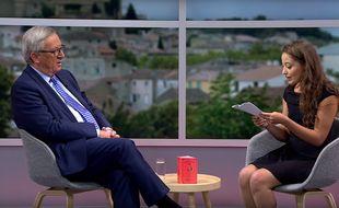 Capture d'écran de l'interview menée par Laetitia pour YouTube et la Commission Européenne le 15 septembre 2016.