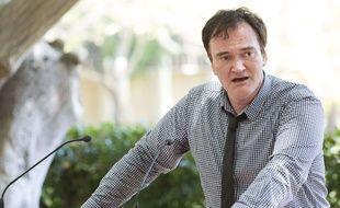 Quentin Tarantino lors d'une allocution à l'école de cinéma de UCLA, à Los Angeles, le 4 juin 2016.