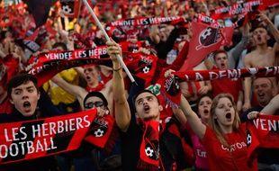Les supporters herbretais à la Beaujoire le mardi 17 avril, lors de la demi-finale.