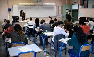 Des élèves du lycée Maurice Ravel de Paris en 2018.