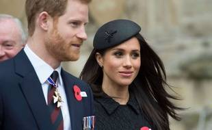Le prince Harry et sa fiancée, Meghan Markle, le 25 avril 2018 à Londres.