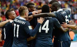 L'équipe de France lors de son match contre le Honduras le 15 juin 2014.