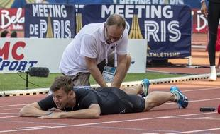 Christophe Lemaitre ne pourra pas défendre ses chances sur le 200m à Doha.