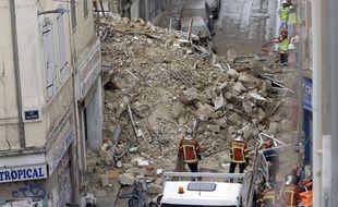 Des immeubles se sont effondrés dans le quartier de Noailles à Marseille, le 5 novembre 2018.
