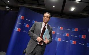 Jean-François Copé, secrétaire général de l'UMP, lors d'une conférence de presse, le 30 mars 2011.