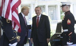 Donald Trump accueille son homologue turc Recep Tayyip Erdogan à la Maison Blanche, le 16 mai 2017.