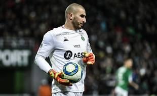 Stéphane Ruffier, ici en novembre 2019 lors d'un match de Ligue 1 contre Montpellier.