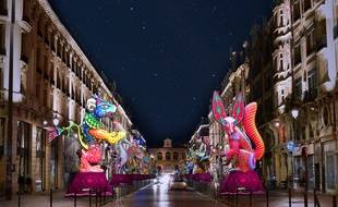 Simulation de la rambla Eldorado rue Faidherbe, à Lille.