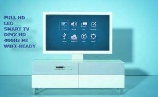 Uppleva, le téléviseur intégré à son meuble d'Ikea.
