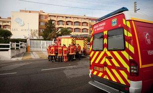 La maison de retraite «Les Anémones», à Marseille (12e arrondissement), où un incendie s'est déclenché, le 14 décembre 2011.